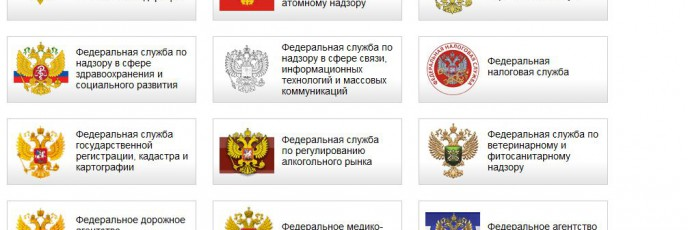главное меню сайта Госуслуги (государственные услуги / электронное правительство)